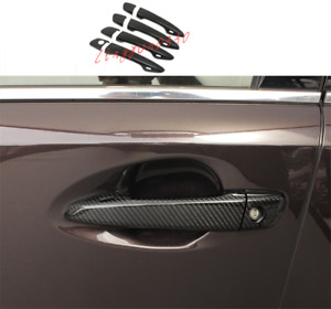 Real Carbon Fiber Outer Door Handle Cover Trim For Lexus IS250 300 350 2014-2019