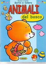 Scrivi e colora animali del bosco - Salvadeos - Libro nuovo in offerta!