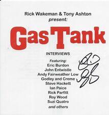 Rick Wakeman and Tony Ashton **SIGNED by RW** Gastank Interview 2CD **NEW**