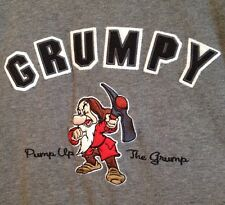 Disney T Shirt Medium Grumpy Pump Up The Grump Embroidered Disneyland Resort