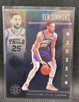 Ben Simmons Black Sapphire 76ers SSP 2019-20 Panini Illusions #71