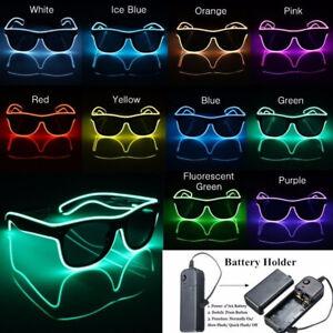 LED LIGHT UP GLASSES SUPER BRIGHT FLASHING BLACK LENS LED SHADES