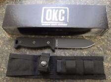 NEW Ontario 7500PC SK-5 Blackbird Noir Hedgehog Knife & Sheath USA BLACK G10