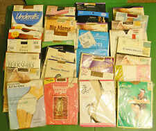 31 PRS VTG. MIX LOT NYLON PANTYHOSE STOCKINGS HOSIERY MIX COLOR & STYLES QUEEN