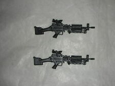 "ELITE Force M249 SAW Machine Gun 1:18 BBI Weapons Accessories For 3-3/4"" 2 pcs"