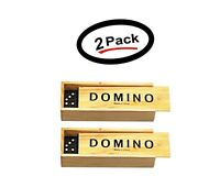 (2 Pack) Wooden Premium Dominoes- Classic Tile Game 28 Piece Set - Free Shipping