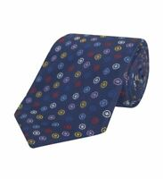 Turnbull & Asser Navy Assorted Spot Silk Tie 8cm