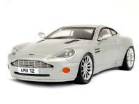 Aston Martin V12 Vanquish Silver 2007 Year Luxury Sports Car 1/43 Scale Model