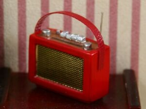 Radio Red, Dolls House Miniature, 1.12 Scale