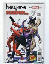 Hawkeye VS Deadpool # 1 Dynamic Forces Variant Cover Marvel NM 2018 COA Mayhew