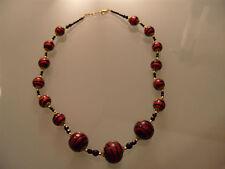 Halskette Kette original Muranoglas Schmuck aus Glas UNIKAT Handarbeit Perlen