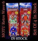 MOTU Masters Of The Universe Retro Origins 2021 Wave 6 Set Of 4 Mattel IN STOCK For Sale