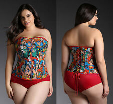 NEW TORRID WOMENS PLUS SIZE 3X COSPLAY DC SUPERHERO CORSET BUSTIER WONDER WOMAN