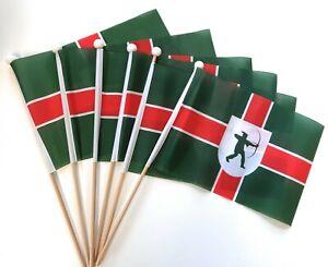 Nottinghamshire Waving Hand Flag 6 Pack FREE UK DELIVERY!