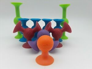 SQUIGZ LOT OF 10 Fat Brain Toys Silicone Building Suction Cup Toys Free Ship