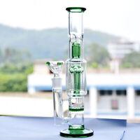 Long Straight Glass Vase Bottle Hookah Shisha Smoking Filter Pipe Bongs