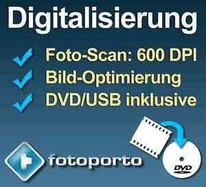 Fotos digitalisieren / Fotoscan / Foto-Digitalisierung / Fotos auf CD/DVD