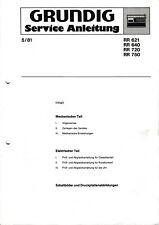 Service Manual-Anleitung für Grundig RR 621,RR 640,RR 720,RR 750