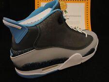 Nike Air Jordan Dub Zero, Black / Baby Blue / Classic Charcoal, Laser, Sz 9.5