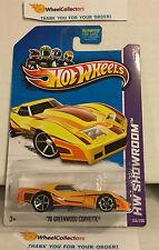 '76 Greenwood Corvette #208 * Yellow * 2013 Hot Wheels * G18