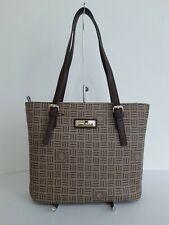 Anne Klein Women's Brown Signature Logo Tote Bag