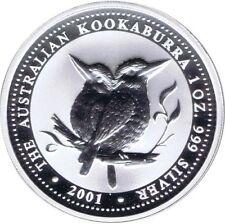 AUSTRALIE ONCE D'ARGENT KOOKABURRA 2001 1$ DOLLAR DOLLAR ARGENT ONCE OZ