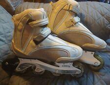 Ultra Wheels Abec5 Gse AutoFit Blue & Gray Inline Skates Womens Size 11 Zip Fit