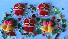 Christmas Mix Embellishments Card making scrap booking crafts Flat backed