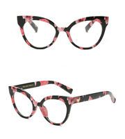 VTG 50s/60s Style Clear Lens Cat Eye Office Retro Rockabilly Premium Glasses UK