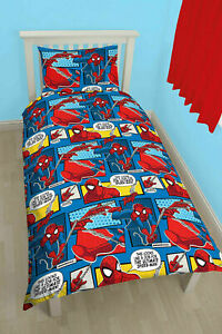 Spiderman Single Bedding Set Marvel Duvet Cover For Boys