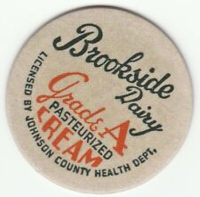 MILK BOTTLE CAP. BROOKSIDE DAIRY. SHAWNEE MISSION, KS. REPRODUCTION