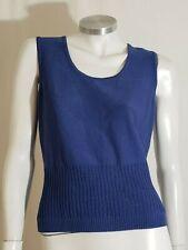 St. John Sport Women Top Sleeveless Blue Pull-Over Wool Rayon Size S