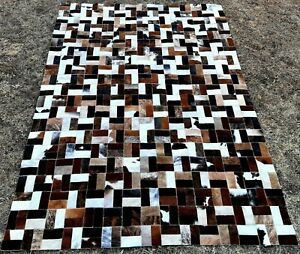 NEW COWHIDE PATCHWORK CARPET AREA RUG Cow hide FANTASY EXCLUSIVE 5ft x 7ft