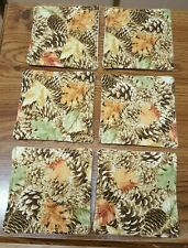 Coasters Set Of 6 Pinecones and leaves