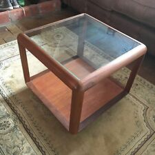 Teak Square Coffee Tables with Shelves