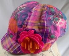 Claire's juniors hat size S/M patchwork multicolor flower boho