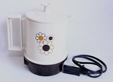 Vtg Regal Ware Electric Poly Hot Pot Coffee Tea Kettle 5 Cup Retro Flower Design