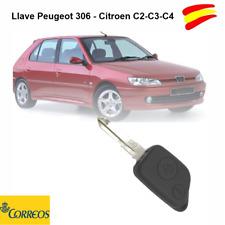 LLAVE PARA PEUGEOT 306- Y CITROEN C2-C3-C4 DOS BOTONES + ESPADIN