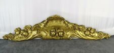 "16"" Antique French Gilded Bronze Furniture Pediment Decoration Flowers"
