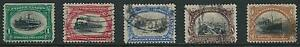 SCOTT 294-299 1901  PAN AMERICAN EXPOSITION ISSUE COMPLETE SET USED CAT $119!