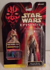 Star Wars NIB Episode 1 JAR JAR BINKS with GUNGAN Battle Staff Action Figure