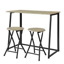 SoBuy Set Mesa Alta de Bar y 2 Taburetes Mueble Plegable para Cocina OGT18-N,ES