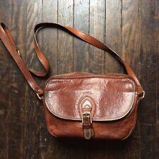 ec72ff0edd Emporio Armani Vintage Saddle Leather Hand Bag With Shoulder Strap
