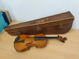 """UNBRANDED ACOUSTIC VIOLIN with Carry Case - 4/4 Size - 14"""" Body - !""""_"""