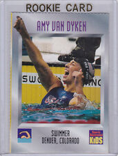 AMY VAN DYKEN ROOKIE CARD Swimming TEAM USA Olympics SI for Kids RC GOLD RARE!