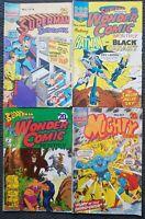 4 Australian Superhero Comics - Planet Comics 1970's Superman Batman Aquaman