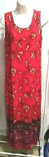 Units Dress Womens M 100% Rayon Long Tank top style Made in USA