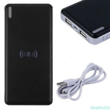 10000mAh Fast Wireless Charge External Battery Mobile Power Bank Built-In Light