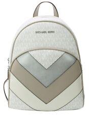 Michael Kors Sac à Dos Blanc Brillant Logo Monogramme PVC Abbaye M