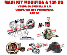 KIT MODIFICA CILINDRO RACING 130 POLINI ALBERO MOTORE CAMPANA VESPA 50 SPECIAL